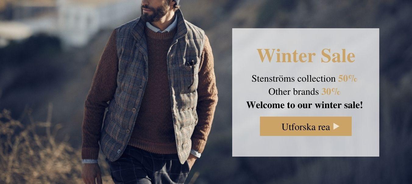 Winter sale Stenströms 50% Other brands 30%